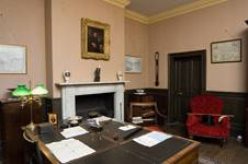 Interior view of the study at Rosehill House.