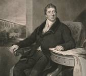A portrait engraving of Thomas Telford.