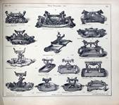 A page from the 1875 Coalbrookdale Catalogue, showing a range of designs for shoe scrapers.