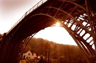 The Iron Bridge 2 - Looking up from underneath the historical bridge - Ironbridge.jpg