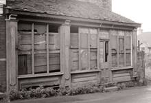 A Historic image of a derelict building in St.George's Telford, now restored as the Print Shop at Blists Hill