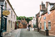 Canal Street at Blists Hill Victorian Town. Andy Li Photography - Unique wedding venues - Ironbridge