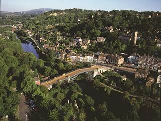 Aerial view of Ironbridge
