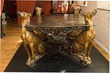 Donations help support projects - Museum of Iron - The Deerhound Table in the Museum