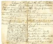 Handwritten list of items taken on a voyage to America by Deborah Darby, 12 August 1795.