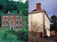 A view of Dale House, 1717 and Rosehill House, 1738, built for members of the Darby family.