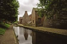 Coalport China Museum - Looking towards the furnace near the canal