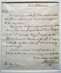 Handwritten letter by Thomas Telford to Thomas Wedge Esq., written from London 8 July 1826.