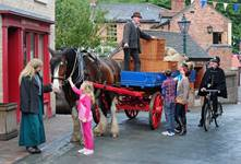 Child and horse - Blists Hill Victorian Town, Ironbridge