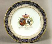 Plate believed to commemorate the visit of the Dutch Prince of Orange to Ironbridge Gorge in 1796.