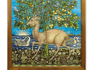 Jackfield Tile Museum 1 - Arts and Crafts Deer panel by William de Morgan c1870 - Ironbridge.jpg