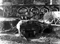 Photograph showing the excavation of the Old Furnace at Coalbrookdale in 1959.